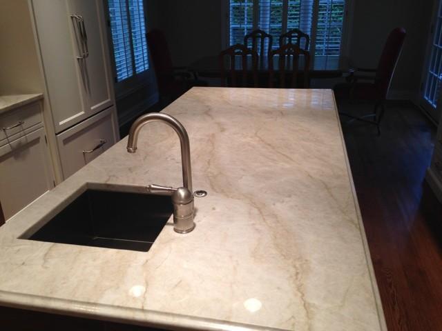 White pearl quartzite kitchen modern dallas by levantina usa