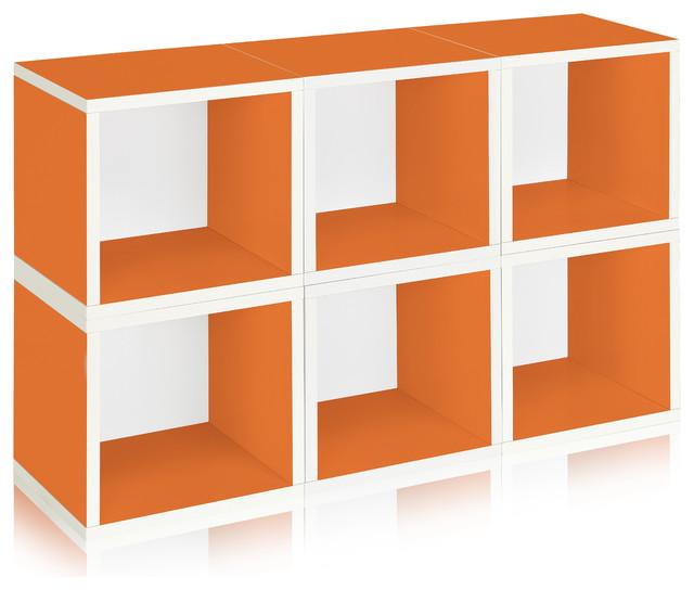 Modular Storage Cubes, Orange contemporary storage units and cabinets