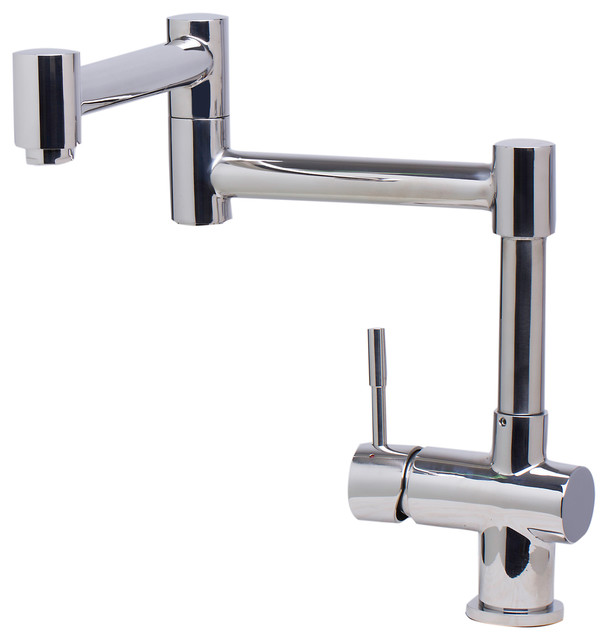 Solid Polished Stainless Steel Retractable Single Hole