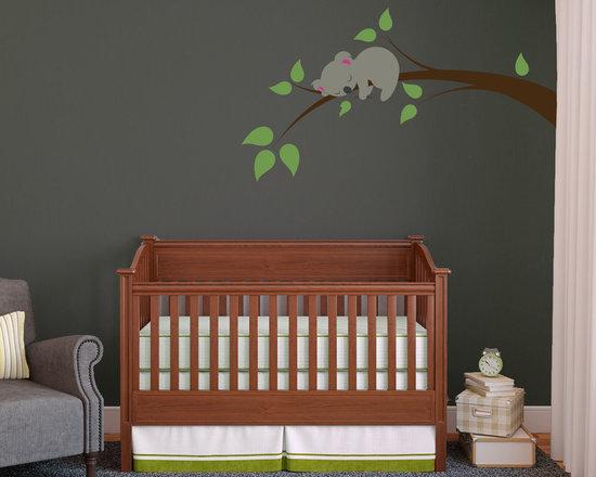 Sleeping Koala On A Branch -