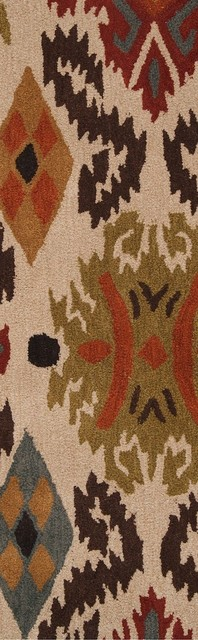 "Transitional Matmi Hallway Runner 2'6""x8' Runner Parchment, Khaki Green Area Rug transitional-rugs"
