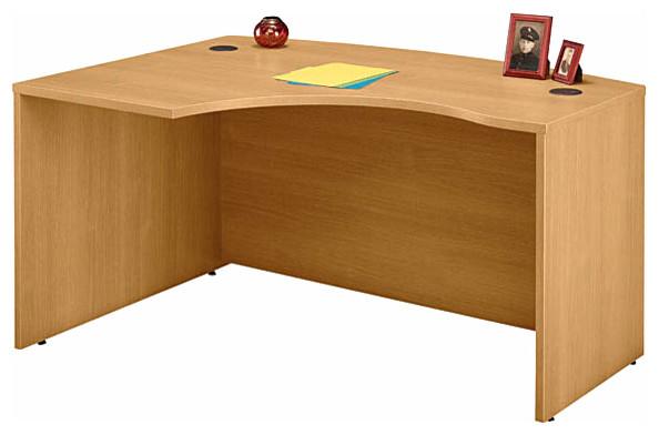 Left Corner L Desk in Light Oak - Series C contemporary-desks-and-hutches