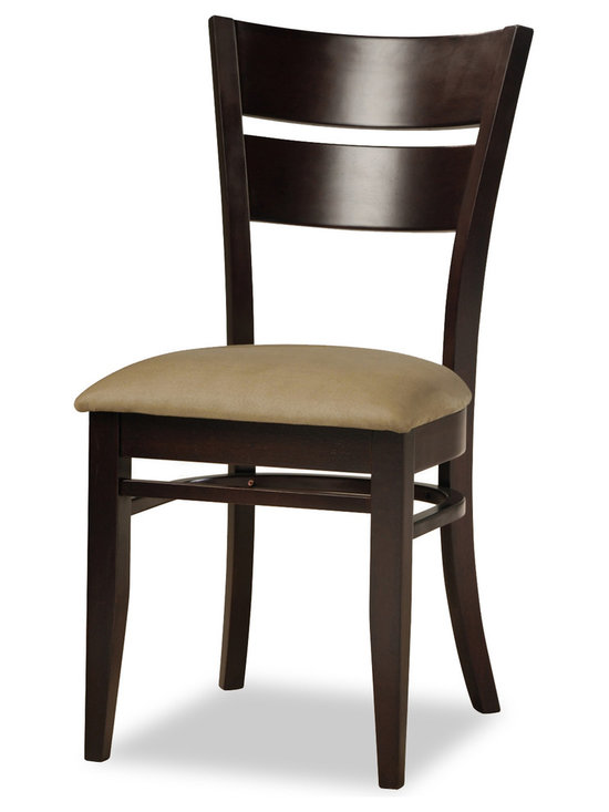 Bryght - Grace Light Brown Fabric Upholstered Dining Chair - The Grace dining chair showcases a timeless and classic vintage design. Simple yet graceful, the Grace dining chair is well suited for all occasions, with its bentwood slat back and a cozy padded seat in microfiber.