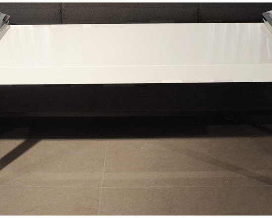 Showroom Pieces - White Lacquer console for more info call us at (305)576-4566!