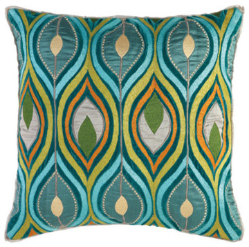 Company C Pillow Deco Peacock mediterranean-bed-pillows-and-pillowcases
