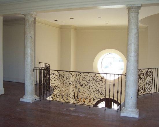 Installations - Sugar Land- Custom hand carved marble Doric columns