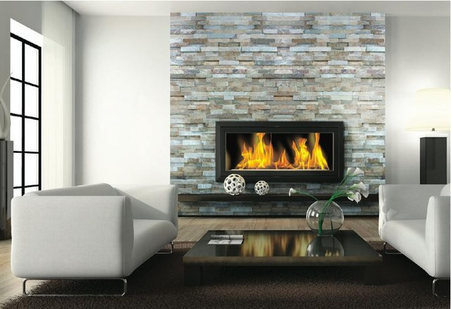Fireplace Ledgestone/Stacked Stone Slate traditional-wall-and-floor-tile