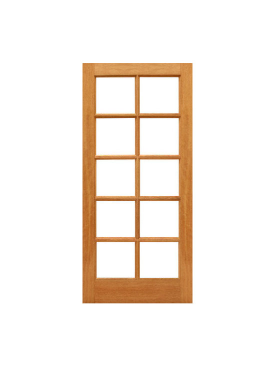 "10-lite Patio Brazilian Mahogany IG Glass Single Door - SKU#    10-lite-Ext-1Brand    AAWDoor Type    FrenchManufacturer Collection    Mahogany French DoorsDoor Model    Door Material    WoodWoodgrain    MahoganyVeneer    Price    380Door Size Options    24"" x 80"" (2'-0"" x 6'-8"")  $028"" x 80"" (2'-4"" x 6'-8"")  $030"" x 80"" (2'-6"" x 6'-8"")  +$1032"" x 80"" (2'-8"" x 6'-8"")  +$1036"" x 80"" (3'-0"" x 6'-8"")  +$10Core Type    SolidDoor Style    Door Lite Style    Full Lite , 10 LiteDoor Panel Style    Ovolo StickingHome Style Matching    Craftsman , Colonial , Cape Cod , VictorianDoor Construction    Engineered Stiles and RailsPrehanging Options    Prehung , SlabPrehung Configuration    Single DoorDoor Thickness (Inches)    1.75Glass Thickness (Inches)    1/2Glass Type    Double GlazedGlass Caming    Glass Features    Insulated , Tempered , low-E , Beveled , DualGlass Style    Clear , White LaminatedGlass Texture    Clear , White LaminatedGlass Obscurity    No Obscurity , High ObscurityDoor Features    Door Approvals    FSCDoor Finishes    Door Accessories    Weight (lbs)    340Crating Size    25"" (w)x 108"" (l)x 52"" (h)Lead Time    Slab Doors: 7 daysPrehung:14 daysPrefinished, PreHung:21 daysWarranty    1 Year Limited Manufacturer WarrantyHere you can download warranty PDF document."