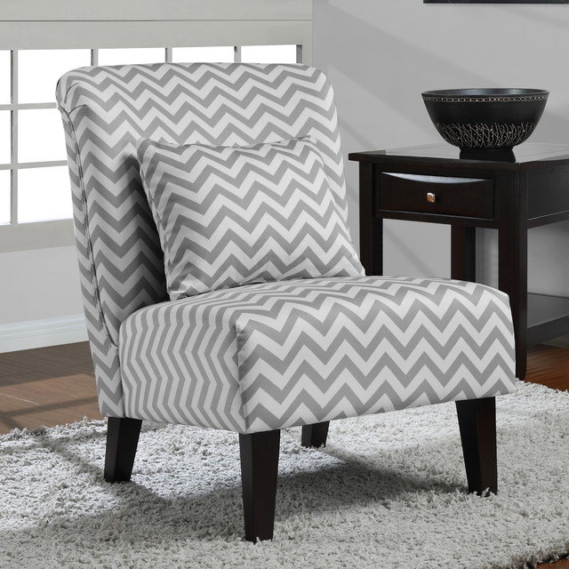 Anna Grey White Chevron Accent Chair Contemporary  : contemporary armchairs from www.houzz.com size 640 x 640 jpeg 120kB