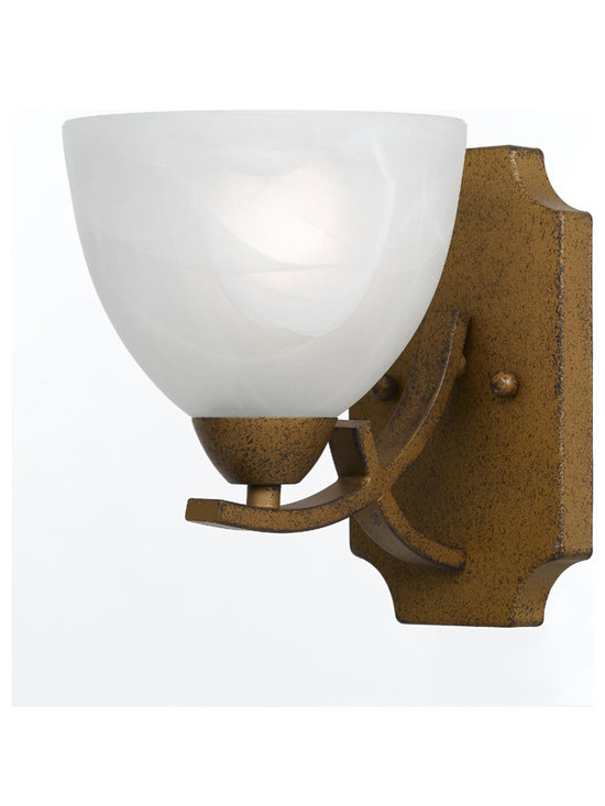 Triarch International - Triarch 33280/1-AG Value Series Aged Gold Wall Sconce - Triarch 33280/1-AG Value Series Aged Gold Wall Sconce