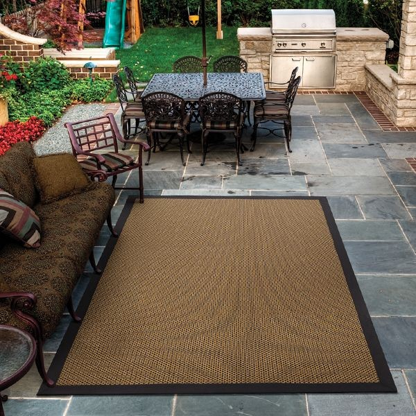 Margate Gold and Black Design Outdoor Rug Outdoor Rugs