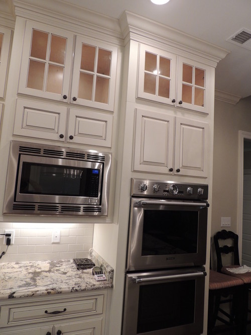 Double wall oven and microwave for Double oven and microwave cabinet