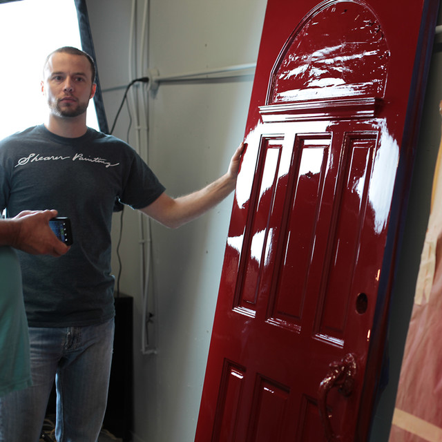 fine paints of europe high gloss red door traditional seattle by. Black Bedroom Furniture Sets. Home Design Ideas
