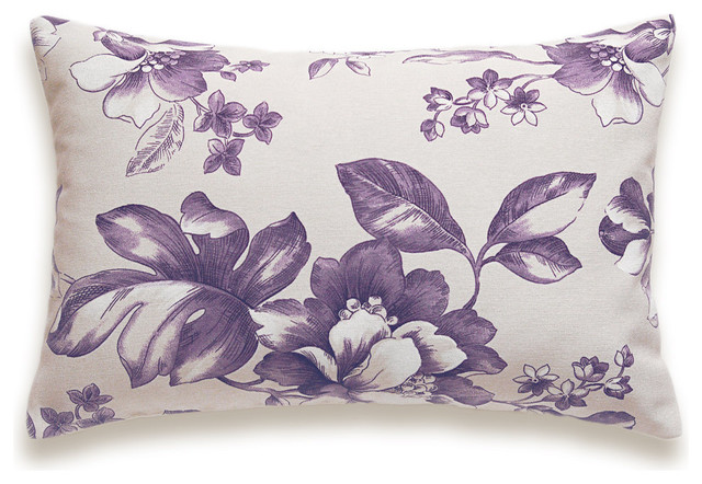 Decorative Purple Lavender Lilac Lumbar Pillow Case 12 x 18 in LEA DESIGN