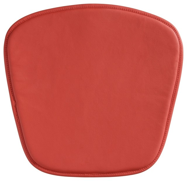 Zuo Modern Wire/Mesh Red Seat Cushion midcentury-seat-cushions