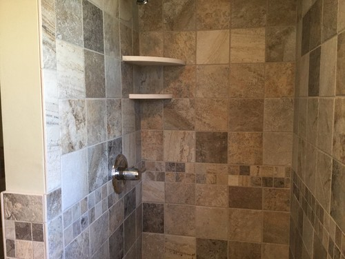 This Bath Has Calabria Tile Floor And Walls Formica Top