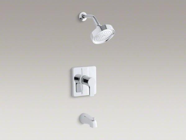 KOHLER Singulier(R) Rite-Temp(R) bath/shower trim contemporary-showerheads-and-body-sprays