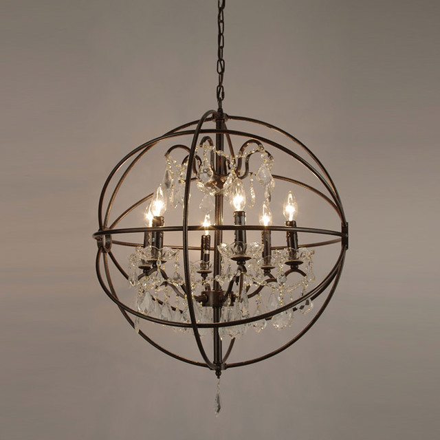 Foucault's Orb Crystal Iron 6light Chandelier  Modern. Industrial Living Room. White Farmhouse Kitchen. Outdoor Toilet. Fireplace Backsplash. Room Divider Screens. Burgundy Accent Chair. Gold Coffee Tables. Benson Pendant