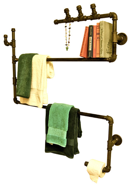 Ryman Loft Industrial Pipe Bathroom Fixtures Unit 2