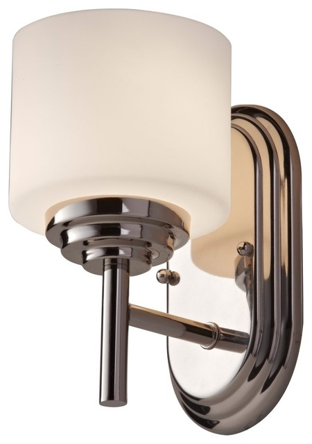 Murray Feiss Malibu Vanity Light - 5.06W in. Polished Nickel modern wall sconces
