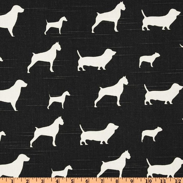 Premier Prints Best Friends Slub, Charcoal contemporary upholstery fabric