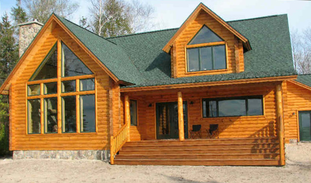 Cabin rustic exterior paint colors bing images for Log cabin exterior stain colors