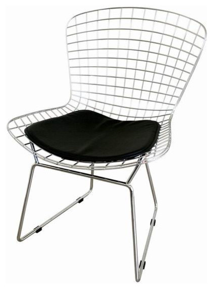 Bertoia Style Wire Side Chair contemporary-dining-chairs