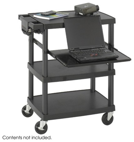 Multimedia Projector Cart modern-cable-management