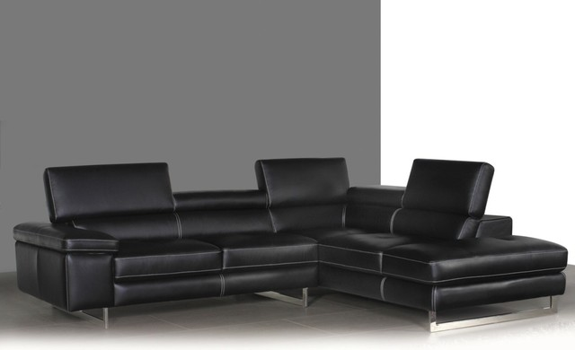 Syncro Leather Sectional Sofa - contemporary - sectional sofas