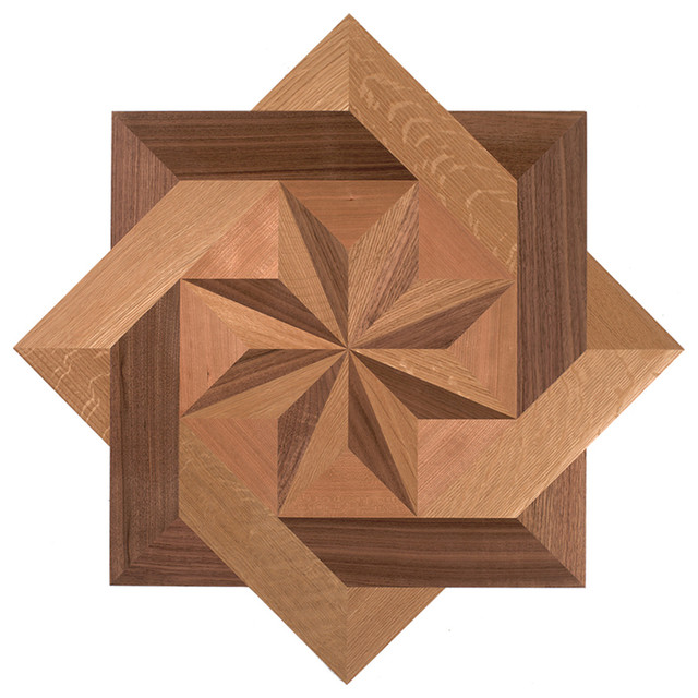 Oshkosh designs brenton cove inlay medallion traditional for Inlaid wood floor designs