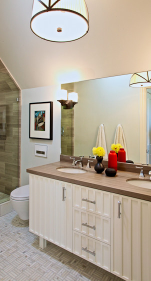 Dolores Park Residence transitional-bathroom