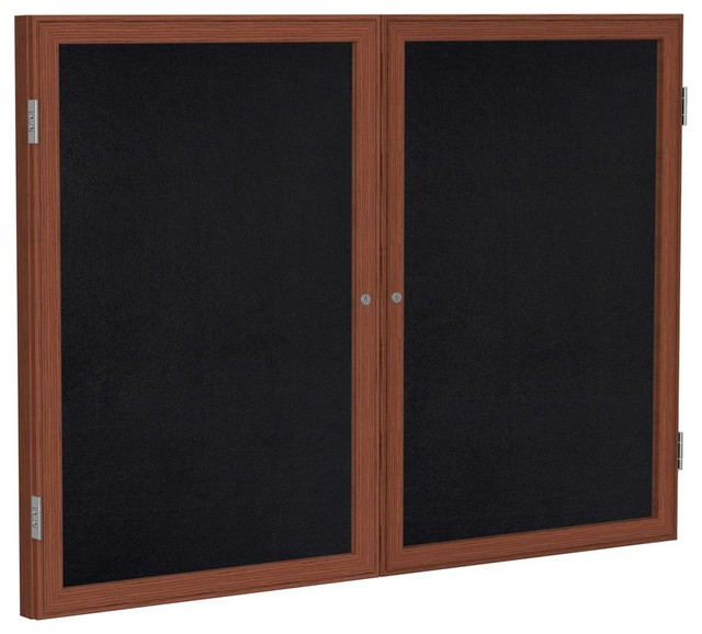 Eco Friendly 2 Door Rubber Tackboard 36 In W X 48 In H