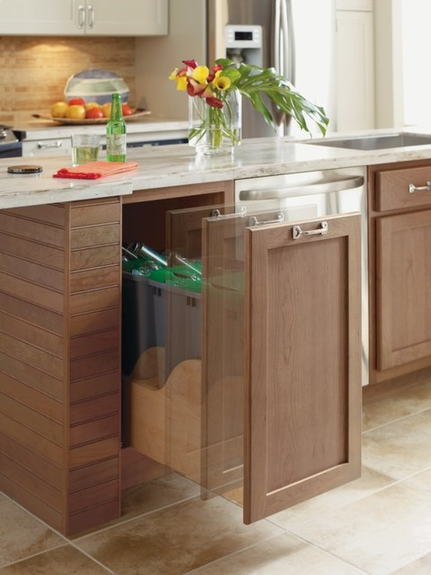 Omega Hands Free Kitchen Cabinet Trash Cans Other Metro By Masterbrand Cabinets Inc