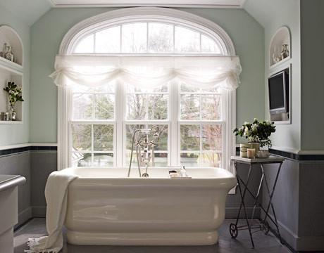 Waterworks empire tub chevron pattern honed gray Empire bathrooms