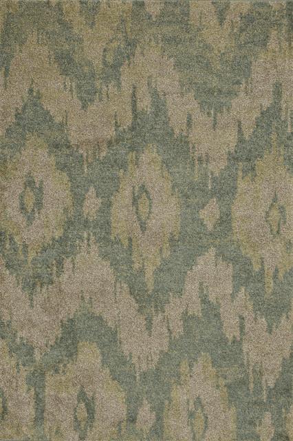 "Revive HRI04 5'2"" x 7'7"" Sea, Beige Rug contemporary-rugs"