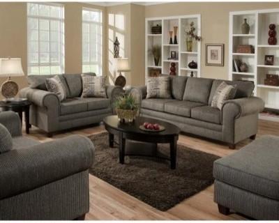 Chelsea Home Camden Sofa and Loveseat Set - Romance Graphite modern-sofas