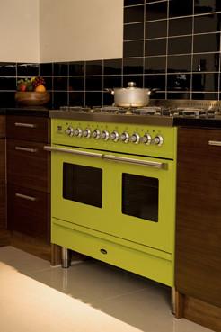 Green Smeg Kitchen contemporary-kitchen-cabinetry