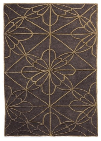 African House 3 Rug modern-rugs