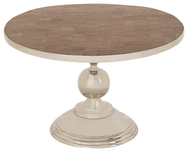 Elegant And Beautiful Inspired Style Aluminum Wood Table Home Decor Transitional Side Tables And