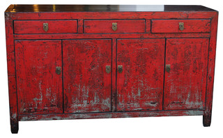 Red Vintage Asian Cabinet - Eclectic - Buffets And Sideboards - by ...