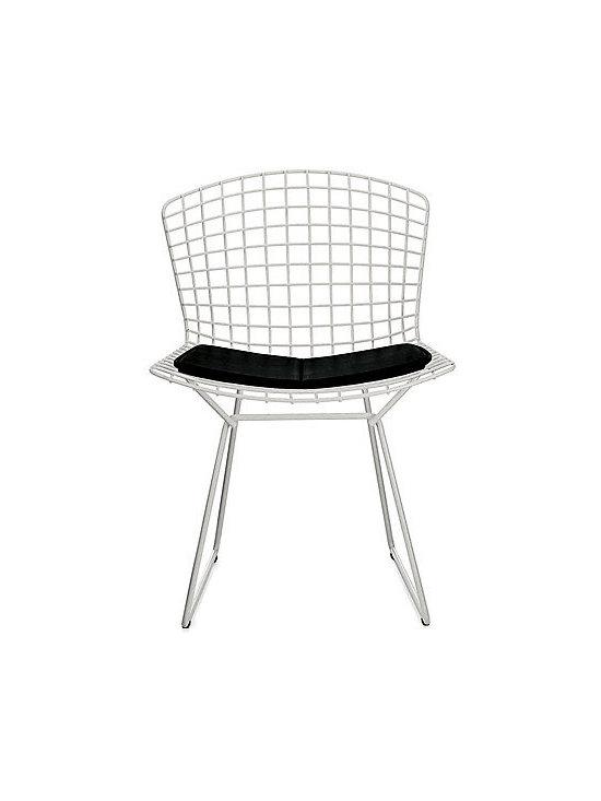 Bertoia Side Chair with Vinyl Seat Pad -