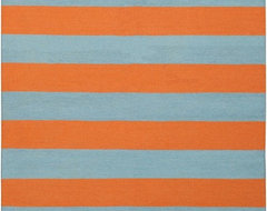 Contemporary Frontier 2'x3' Rectangle Blue, Orange Area Rug contemporary-rugs
