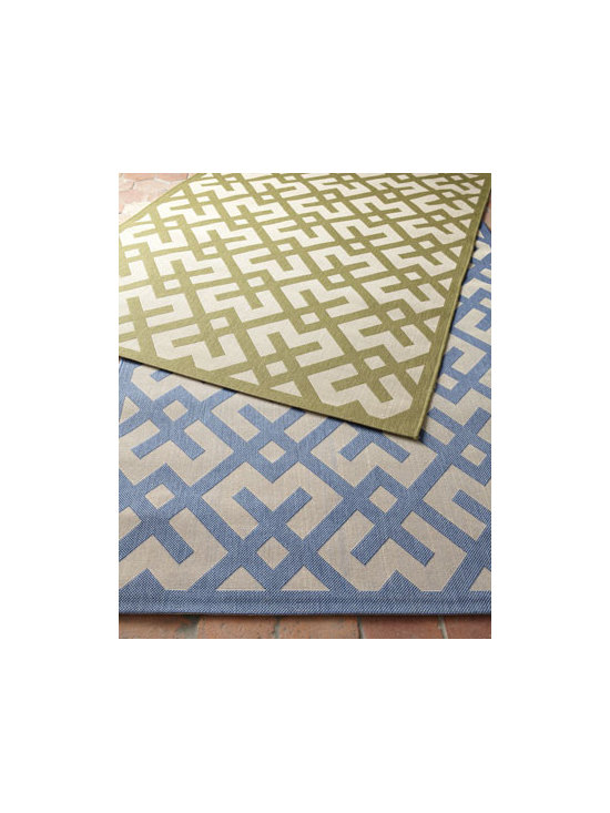 "Safavieh - Safavieh ""X-Graphic"" Rug, 5'3"" x 7'7"" - A dynamic pattern of intersecting lines brings visual interest to your indoor or outdoor spaces. Select color when ordering. Made of polypropylene. Size is approximate. Imported."