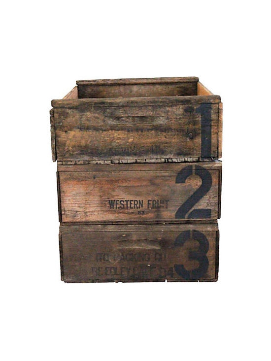 Vineyard Grape Crates -