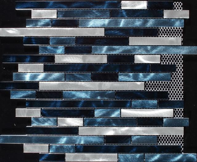 Aluminium tiles/mosaics midcentury-tile