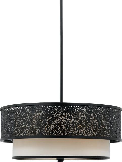 Quoizel UT2820K Utopia Transitional Drum Pendant Light contemporary-pendant-lighting