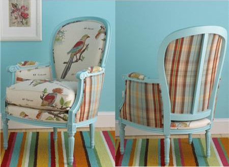 Birds of a Feather French Bergere Arm Chair modern armchairs