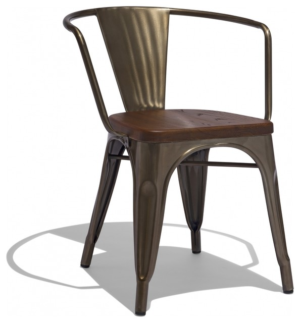 Marais Arm Chair With A Wood Seat Industrial Armchairs And Accent Chairs