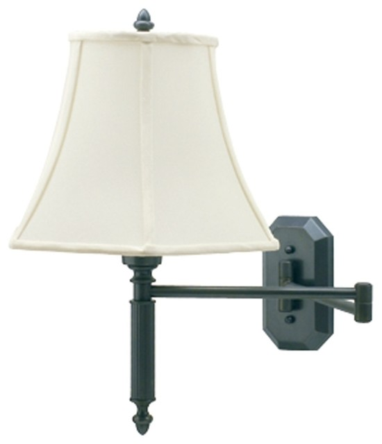 arm plug in wall lamp traditional wall sconces by lamps plus. Black Bedroom Furniture Sets. Home Design Ideas