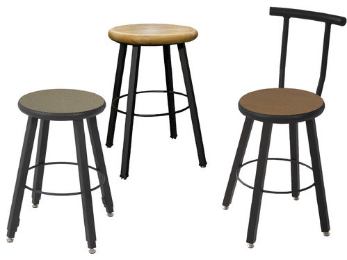 Fixed Height Square Tube Stool Modern Bar Stools And